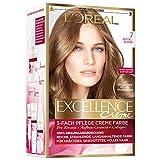 L'Oréal Paris Excellence Creme Coloration, 7 - Mittelblond, 3er Pack