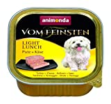 animonda Vom Feinsten Adult Hundefutter, Nassfutter für ausgewachsene Hunde, Light Lunch Pute + Käse, 22 x 150 g
