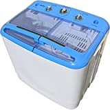 Syntrox Germany A+ 5,2 Kg Waschmaschine mit Pumpe und Schleuder Campingwaschmaschine Mini Waschmaschine