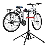 amzdeal Fahrradmontageständer Reparaturständer mit Werkzeugablage - klappbar & höhenverstellbaron 115-170cm - schwarzer Montageständer vierbeinig...