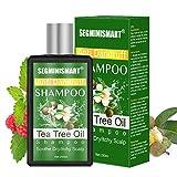 Teebaumöl Shampoo,Anti Dandruff Shampoo,Gegen Pickel auf der Kopfhau Für trockene, juckende und schuppige Kopfhaut,Linderung trockene Kopfhaut und juckendes...