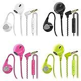 CBGGQ 4 Paare In Ear Kopfhörer, Stereo Bass In Ear Ohrhörer mit Mikrofon & Fernsteuerung Noise Cancelling Bass-Sound Kopfhörer für iOS, Android Smartphones,...