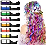 XIMU Haarkreide 8 Farbe, Haar Colorationen, Temporäre Haarfarbe, Sicher und Harmlos mit Schutzhülle, Geeignet für Kinder ab 3 Jahren, Geburtstagsfeier für...