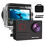 Apexcam Pro Action Cam 4K 20MP Sportkamera WiFi Unterwasserkamera 2.4G Fernbedienung Wasserdicht 40m 2.0 Zoll LCD Bildschirm 170 ° Weitwinkel mit Zwei 1200mAh...