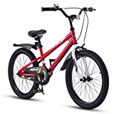 Royal Baby Kinderfahrrad Jungen Mädchen Freestyle BMX Fahrrad Stützräder Laufrad Kinder Fahrrad 18 Zoll Rot