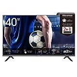 Hisense 40AE5500F 100cm (40 Zoll) Fernseher (Full HD, Triple Tuner DVB-C/S/S2/T/T2, Smart-TV, Frameless, Prime Video, Netflix, YouTube, DAZN, 3 Jahre Garantie)