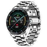 LIGE Smart Watch, Fitness-Tracker MitBlutdruck, Herzfrequenzmesser, 1,3-Zoll-Touchscreen, wasserdichte IP67 Smartwatch, Fitness Uhr für Männer, Edelstahl Band...