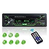 Aigoss Autoradio mit Bluetooth Freisprecheinrichtung, 1 Din Universal 60w x 4 Radio, FM/BT/USB/TF/SD MP3 Media Player, Drahtlose Fernbedienung Enthalten mit 5...