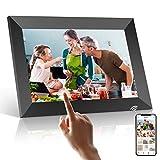 WiFi Digitaler Bilderrahmen, PODOOR Touch Elektronischer Bilderrahmen 10.1 Zoll Smart Fotorahmen 1080P mit 16 GB Speicher, Automatischer Drehung, Einstellbarer...