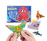 Berry President Bunte Kinder Origami-Kit Lebendige Origami-Papiere Muster mit Anleitung Origami-Buch Kreativität für Kinder Anfänger Training und...