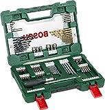 Bosch 91tlg. Titanium-Bohrer- und Bit Set V-Line (für Holz, Stein und Metall, inkl. Ratschen-Schraubendreher und Magnetstab, Zubehör Bohr- und...
