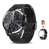 Voigoo Smartwatch (2021 neu)1.3' Touch Screen Herren Damen Intelligente Uhren Sport | Bluetooth-Anruf | EKG-Überwachung Tracker Pulsuhr Schrittzähler...