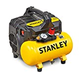 Stanley 100/8/6 Silent Air Compressor DST 100/8/6SI, 750 W, 230 V, Giallo