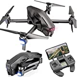 GPS Drohne mit 4K 120° Kamera HD,RC Quadrocopter mit WiFi FPV-Live-Videokamera,Benutzerdefinierter Flugweg,30 Min Flugzeit,Follow Me Funktion,Kehre automatisch...