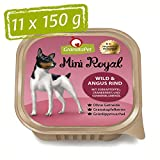 GranataPet Mini Royal Wild & Angus Rind, Nassfutter für Hunde, Hundefutter ohne Getreide & ohne Zuckerzusatz, Alleinfuttermittel für ausgewachsene Hunde, 11 x...
