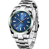 Benyar Herren-Armbanduhr, luxuriös, automatisch, mechanisch, bis 50 m wasserdicht, Vollstahl, Business-Armbanduhr Explorer Hommage