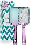 Lily England Paddle Brush Haarbürste im Ombre Türkis Lila Look – perfekte Haar Bürste & Langhaarbürste zum Glätten & Föhnen – für dünnes & dickes...