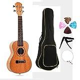 CX TECH Ukelele Beginner Kit Sopran-Ukulele mit Gigbag für Kinder Studenten und Anfänger Mini-Gitarre mit Stimmgerät, 4 Picks, Gurt und schwarzem Gigbag