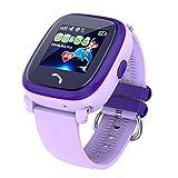 VIDIMENSIO GPS Telefon Uhr 'Kleiner Delfin-violett, Armband:schw/pink',ohne Abhörfunktion/mit sicherem deutschen Server/Wasserdicht, SOS Notruf+Telefonfunktion...