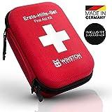 Winston Protection ® Erste Hilfe Set - Erste Hilfe im 30-teiligen Set mit Pinzette und Zeckenzange - Inhalt nach DIN Norm - 2 Karabinerhaken und...