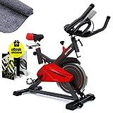 Profi Heimtrainer-Fahrrad SX100 Sportgerät für Zuhause | Hometrainer perfekt für Fitness Workouts Zuhause | Riemenantrieb leise | 13kg Schwungrad |...