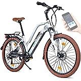 BLUEWHEEL 26' innovatives Damen E-Bike I Deutsche Qualitätsmarke I EU konform Top City Ebike + Nabenmotor I Shimano 7 Gänge + 25 km/h Fullspeed, bis 150 km...