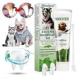 Mroobest Hund Zahnpasta, Dog Toothpaste, Hundezahnbürste, Zahnpflege-Set für Hunde, Zahnsteinentferner Ergänzung gegen Mundgeruch bei Hunden, Natürliche und...