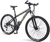 Mountainbikes 33 Geschwindigkeit, 29 Zoll Reifen Hardtail Mountainbike DoppelscheibenbremseAluminiumrahmenMountainbike, mit Vorderradaufhängung Grün - 29...