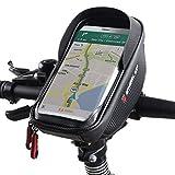 ROTTO Fahrrad Lenkertasche Handytasche Handyhalterung Navigationshalterung Wasserdicht Schwarz
