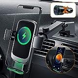 Auckly 15W Fast Qi Wireless Charger Auto,[Versteckte Automatisch] Auto Handyhalterung Mit Ladefunktion Induktion Motor Qi Ladestation Auto Kfz Handy Halterung...