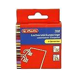 Herlitz 8767220 Lochverstärker, 11 mm quadratisch, transparent, selbstklebend, 700er Spenderbox