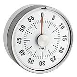 TFA Dostmann Puck Küchentimer, Eieruhr magnetisch, Timer, mit Restzeit-Anzeige, 0-60 Minuten, weiß, 38.1028.02