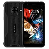 Blackview BV5100 IP69K Outdoor Smartphone ohne Vertrag - 5.7 Zoll HD+ 16MP+13MP Quad-Kamera, 4GB ROM + 128GB RAM, Android 10 Octa-core Dual-SIM 5580mAh Handy -...