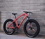 BMX Mountain Bikes 26 Zoll Fat Tire Hardtail Mountainbike Dual-Suspension Rahmen und Federgabel All Terrain Fahrrad for Männer und Frauen Erwachsene 5-25...