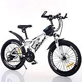 LYzpf MTB Mountainbike Fahrrad 26 Zoll 21 Geschwindigkeiten Legierung Stärkerer Scheibenbremse Stadler Bike Für Erwachsene Mann Frau Student,White,20inch