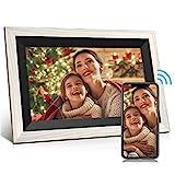 JEEMAK WiFi Digitaler Bilderrahmen 10.1 Zoll IPS Touchscreen, Automatische Drehung, Einfache Einrichtung zur Gemeinsamen Nutzung von Fotos und Videos,...