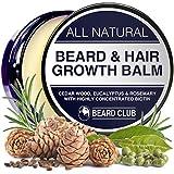Bart und Haarwuchs Balsam | Mit hochkonzentriertem Biotin | Mit dem Duft von Zedernholz, Eukalyptus und Rosmarin | Die beste Lösung für einen...