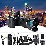 Full HD-Digitalkamera, D7100 33MP 3,0-Zoll-TFT-LCD Digitale DSLR-Kamera mit 24-Fachem Zoom 1080 P 30 Fps Video-Foto-Camcorder 128 MB Speicher mit 0,5-fachem...