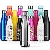 Proworks Edelstahl Trinkflasche | 24 Std. Kalt und 12 Std. Heiß - Premium Vakuum Wasserflasche - Perfekte Isolierflasche für Sport, Laufen, Fahrrad, Yoga,...