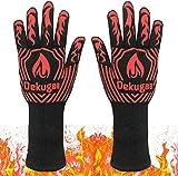 osolay Grillhandschuhe,BBQ Gloves,Ofenhandschuhe BBQ Kochenhandschuhe,Backhandschuhe Hitzefeste Handschuhe Kaminhandschuhe bis zu 800°C,Zum...