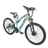 YQ&TL Mountainbike Fahrrad 27,5 in 27-Gang Aluminiumlegierung Mountainbike Fahrrad Licht Vollfederung MTB Speed Stoßdämpfer Zahnräder Doppelscheibenbremsen...