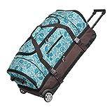 KEANU Reisetrolley Rollen Reisetasche :: XL Trolley Scooter :: 85 Liter Volumen, 2 getrennte Hauptfächer, Wäsche- Schuhfach, Seitentasche, Vordertasche (Brown...