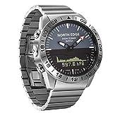 MSQL Herren Digitaluhr Taucheruhr Wasserdicht 200 Mt Militär Armee Voller Stahl Business Höhenmesser Barometer Kompass