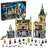 LEGO 76389 Harry Potter Schloss Hogwarts Kammer des Schreckens Spielzeug, Set mit Voldemort als goldene Minifigur und der Großen Halle