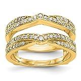 Ringschutz, 14 Karat Gelbgold, Diamant-Verstärker, 0,498 Karat