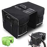 West Biking Fahrradtasche Doppeltasche Gepäckträger Tasche, 30L wasserdichte Große Packtaschen, Rücksitz-Kofferraumtasche mit Gurt, Reißfeste Gepäcktasche...