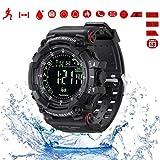 Herren-Sport-Digital-Armbanduhr, Militär-Bluetooth-Smart-Uhren für Android und iOS mit Schrittzähler, Zähler, Stoppuhr, Alarme, Fernbedienung, Kamera, 50 m...