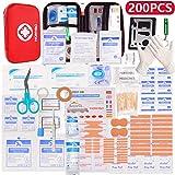 HONYAO Erste-Hilfe Set, Medizinisch Überlebens Kompakt Kit mit Leicht Harte Box für Auto Motorrad Zuhause Arbeitsplatz Draussen Camping Wandern Notfall Erste...