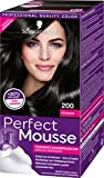 Schwarzkopf Perfect Mousse Permanente Schaumcoloration, 200 Schwarz Stufe 3, 3er Pack (3 x 93 ml)