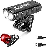 SEWOBYE Fahrradlicht Super Helligkeit Fernstrahl, 4400mAh Wiederaufladbares USB Fahrradbeleuchtung, Aluminium Fahrradlicht USB mit 5 Modi - Fahrradlampe Passt...